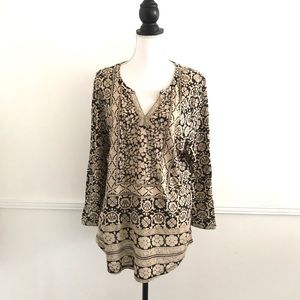 Lucky Brand XL Block Floral Tunic